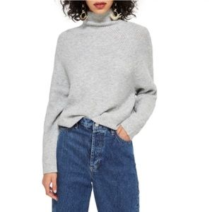 Topshop raglan turtleneck sweater